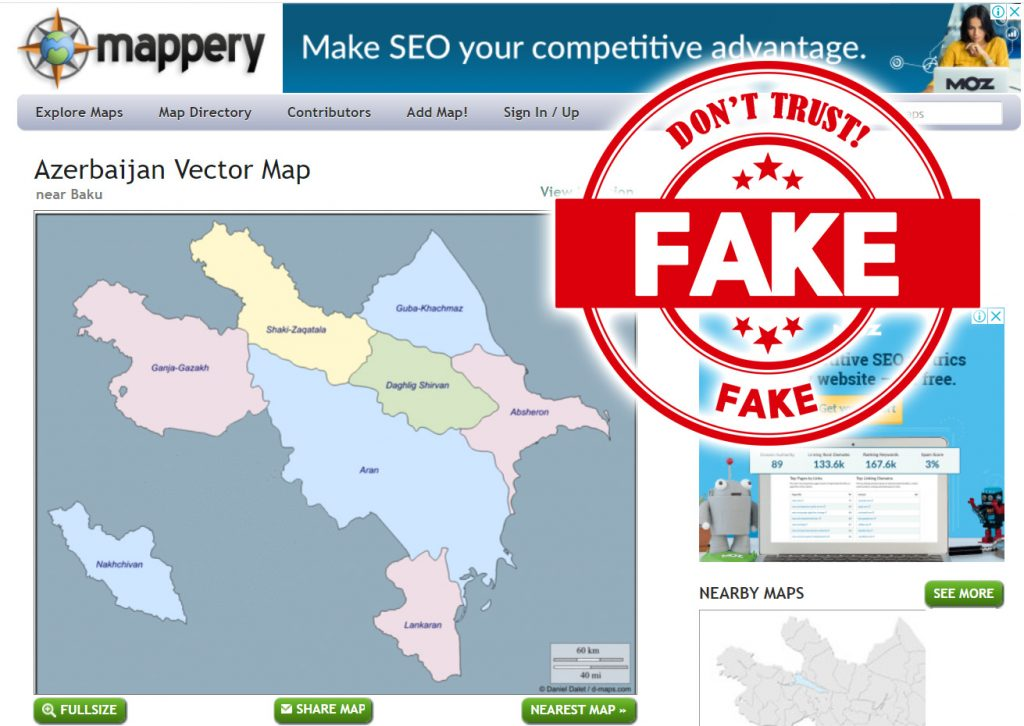 fake Azerbaijan map - from mappery
